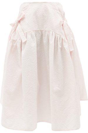 Cecilie Bahnsen Justice Snowdrop Cotton-blend Matelassé Midi Skirt - Womens - Light