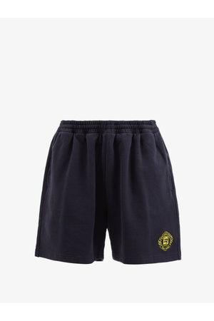 Balenciaga Women Shorts - Quest Logo-embroidered Cotton Shorts - Womens