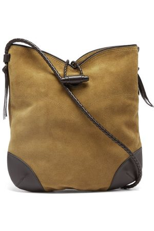 Isabel Marant Tyag Medium Suede Shoulder Bag - Womens - Dark