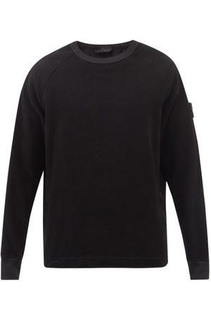Stone Island Men Sports Hoodies - Logo-patch Moleskin Sweatshirt - Mens