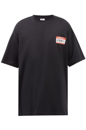 Vetements Name Logo-print Oversized Cotton-jersey T-shirt - Mens