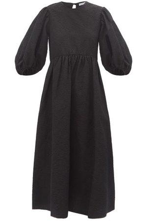 Cecilie Bahnsen Karmen Floral Cotton-blend Cloqué Midi Dress - Womens