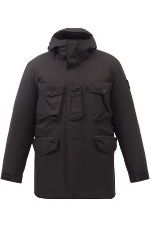 Stone Island Patch-pocket Gore-tex Ripstop Hooded Down Coat - Mens