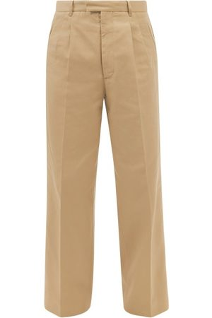 Maison Margiela Pleated Wide-leg Trousers - Mens