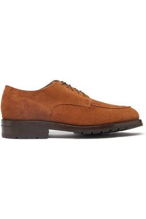 YUKETEN Men Formal Shoes - Postman Suede Derby Shoes - Mens