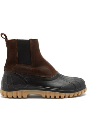 Diemme Balbi Suede And Rubber Chelsea Boots - Mens - Dark