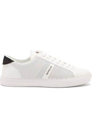 Moncler New Monaco Leather Trainers - Mens - Grey