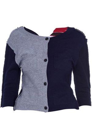Marni Women Cardigans - Contrast-panel Wool-blend Cardigan - Womens - Multi