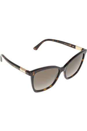 Jimmy Choo Tortoise Acetate Alis 086HA Gradient Square Sunglasses