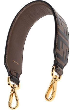 Fendi Tobacco Zucca Embossed Leather Mini Strap You Shoulder Bag Strap