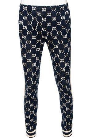 Gucci Navy Logo Jacquard Side Stripe Detail Joggers M