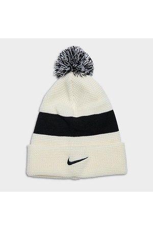 Nike Men Beanies - Authentic Pom Beanie Hat in Off-White/Natural Acrylic/Knit