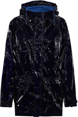 Mr & Mrs Italy Women Parkas - Woman Crinkled-vinyl Hooded Parka Midnight Size M