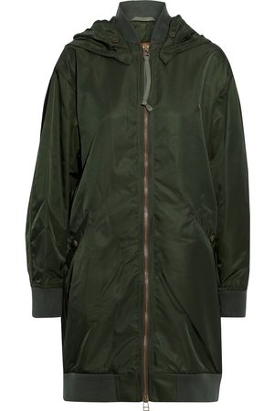 Mr & Mrs Italy Women Parkas - Woman Shell Hooded Parka Army Size M