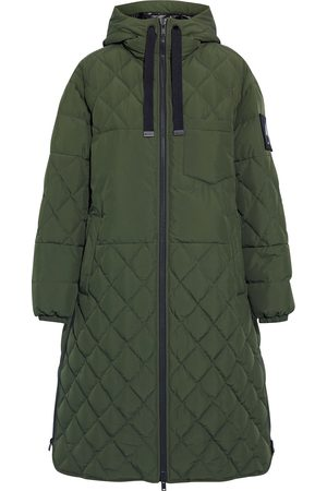 Moose Knuckles Women Parkas - Woman Marquis Quilted Shell Hooded Down Parka Army Size S