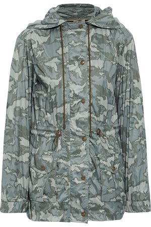 Mr & Mrs Italy Woman Printed Shell Hooded Parka Army Size S