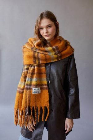 Urban Outfitters Women Scarves - UO Plaid Scarf
