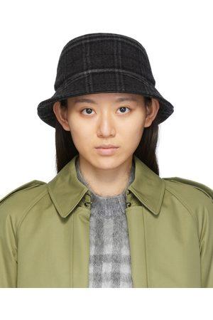 Burberry Women Hats - Grey Check Bucket Hat