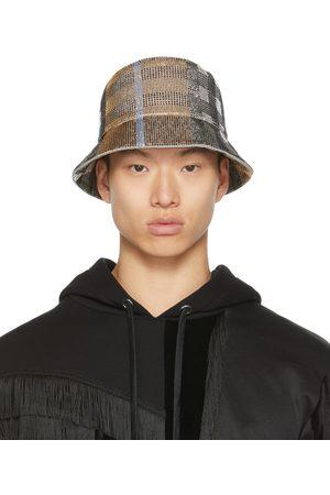 Burberry Men Hats - Beaded Check Bucket Hat
