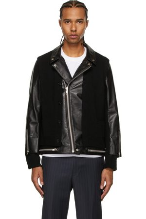 UNDERCOVER Men Leather Jackets - Wool & Leather Jacket