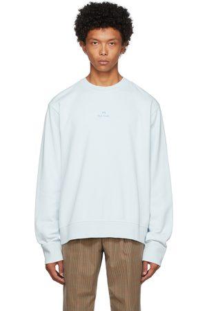 Paul Smith Men Sweatshirts - Blue Stack Logo Sweatshirt