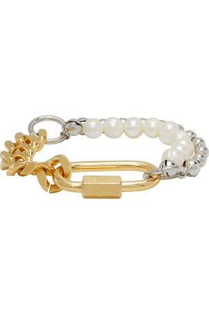 In Gold We Trust Men Bracelets - & Silver Pearl Cuban Link Bracelet