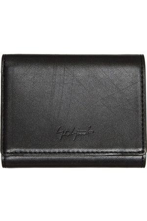YOHJI YAMAMOTO Men Wallets - Distressed 'discord' Compact Trifold Wallet