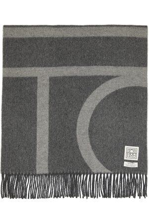 Totême Wool Monogram Jacquard Scarf