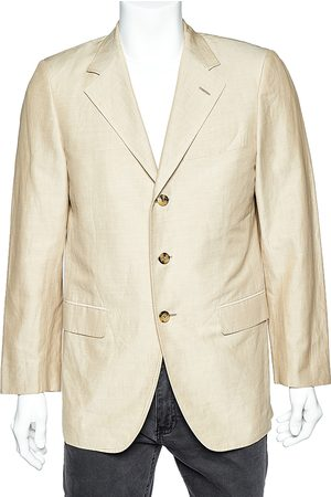 Fendi Cotton & Ramie Button Front Blazer L