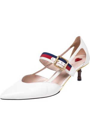 Gucci Leather Unia Pointed Toe Pumps Size 36.5