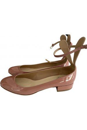 Francesco Russo Patent leather ballet flats