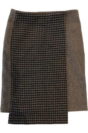 SUNO Wool mid-length skirt