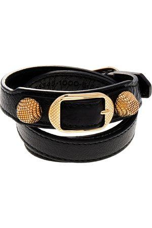 Balenciaga Arena Giant Leather Triple Tour Bracelet M