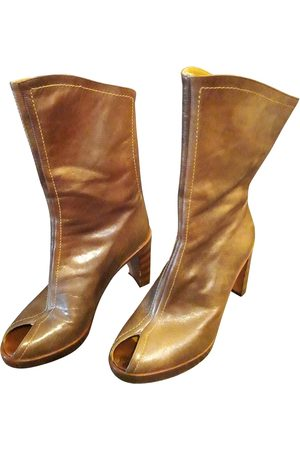 vic matiè Leather open toe boots