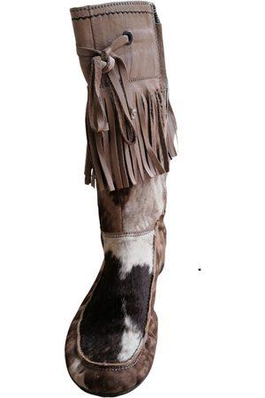 vic matiè Pony-style calfskin biker boots