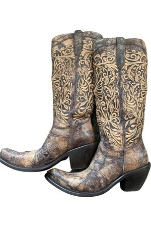 GIANNI BARBATO Leather western boots