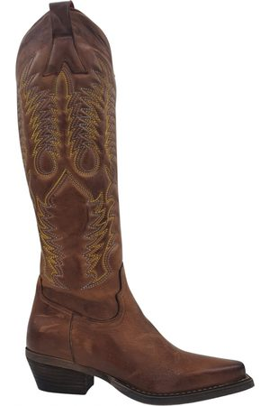 Zoe italy Leather cowboy boots