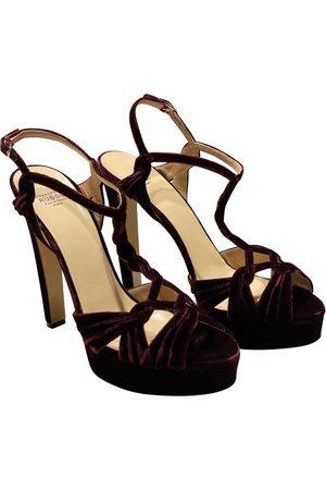 Francesco Russo Velvet sandals