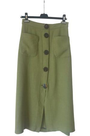 UTERQUE Wool mid-length skirt