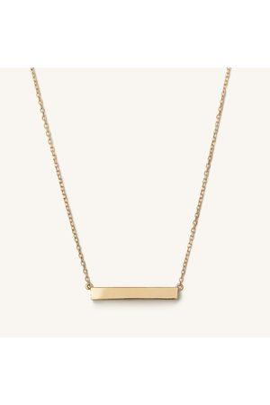 Mejuri Women Necklaces - Horizontal Engravable Bar Necklace