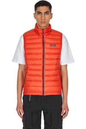 Patagonia Men Gilets - Down sweater vest HOT EMBER