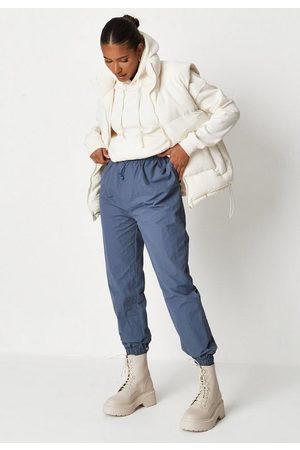 Missguided Women Sports Jackets - Navy Msgd Sports Windbreaker Oversized Joggers