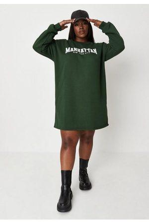 Missguided Plus Size Manhattan Graphic Sweater Dress