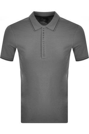 Armani Men Short Sleeve - Short Sleeved Polo T Shirt Grey