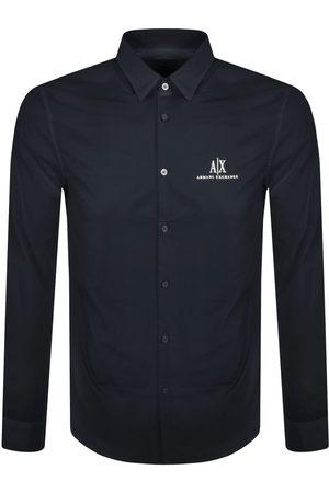 Armani Men Long sleeves - Long Sleeve Shirt Navy