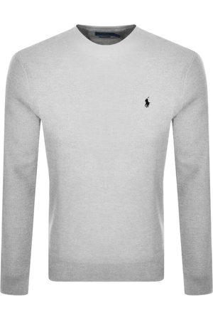 Ralph Lauren Long Sleeved Crew Neck T Shirt Grey