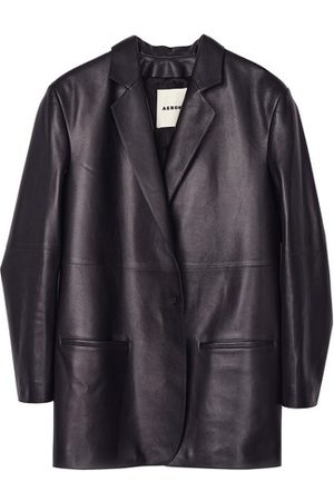 AERON Women Leather Jackets - Mercedes boxy leather blazer
