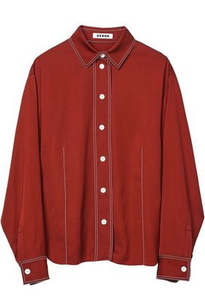 AERON Puerto long-sleeve shirt with contrast stitching