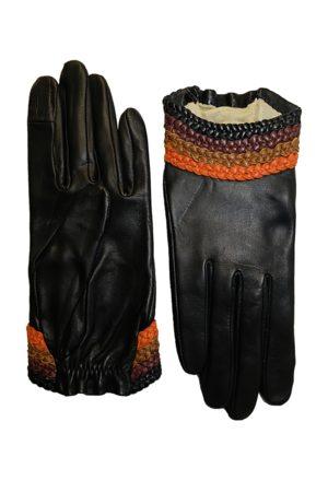 AGNELLE Solen Leather Short Gloves