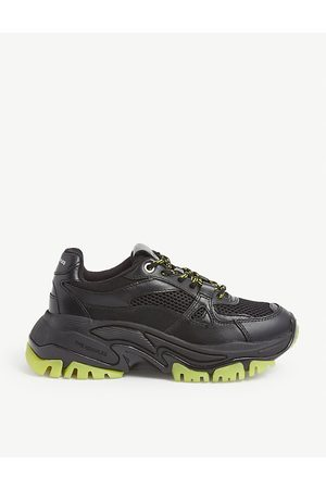 The Kooples Chunky-soled leather trainers